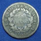 Photo numismatique  Monnaies Monnaies Françaises 1er Empire Demi franc NAPOLEON I, Demi franc 1809 A, Gad.399 TB