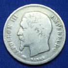 Photo numismatique  Monnaies Monnaies Françaises Second Empire 50 Centimes NAPOLEON III, 50 centimes 1856 D Lyon, Gad.414 B à TB/TB+