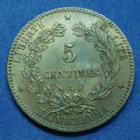 Photo numismatique  Monnaies Monnaies Françaises Troisième République 5 Centimes 5 Centimes Cérès 1886 A, Paris, Gad.157a (SUP+) SPL