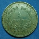 Photo numismatique  Monnaies Monnaies Françaises Troisième République 5 Centimes 5 Centimes Cérès 1894 A, Paris, Gad.157a TTB+