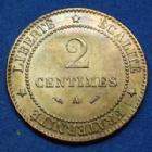 Photo numismatique  Monnaies Monnaies Françaises Troisième République 2 Centimes 2 Centimes Cérès 1884 A, Paris, Gad.105 (SUP+) SPL