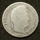 Photo numismatique  Monnaies Monnaies Françaises Louis Philippe 1/2 Franc LOUIS PHILIPPE Ier, 1/2 Franc 1842 B Bourges, Gad.408 B/B à TB