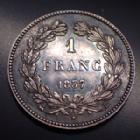 Photo numismatique  Monnaies Monnaies Françaises Louis Philippe 1 Franc LOUIS PHILIPPE, 1 Franc 1837 B, Bourges, Gad.453 SUPERBE,  Patine de médailler!