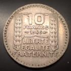 Photo numismatique  Monnaies Monnaies Françaises Gouvernement Provisoire 10 Francs Turin Rameaux longs 10 Francs Turin 1946 rameaux longs, Gad.810 Presque SUPERBE Rare!R!