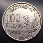 Photo numismatique  Monnaies Monnaies Françaises 4ème république 100 francs Chouette 100 Francs Cochet 1958 chouette, gad.897 petit coup sur tranche sinn Bon TTB