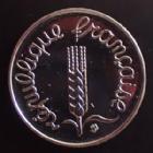 Photo numismatique  Monnaies Monnaies Françaises Cinquième république 1 centimes épi 1 Centime Epi 1991 frappe médaille (BU), Gad.91 SUPERBE à FDC