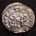 Photo numismatique  Monnaies Empire Romain CONSTANCE I, CONSTANTIUS I, CONSTANTIO I,  Argenteus, argentei CONSTANCE I Chlore, CONSTANTIUS I Chlorus, argenteus Trèves en 298-299, VIRTUS MILITUM, 17mm, 2,62 grms, RIC 117a TTB à SUP R!