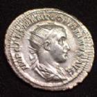 Photo numismatique  Monnaies Empire Romain GORDIEN III, GORDIAN III, GORDIANUS III, GORDIANO III Antoninien, antoninianus, antoniniane GORDIEN III, GORDIANUS III, antoninien Rome en 238-239, VRITUS AUG, 4,49 grms, RIC.6 SUPERBE