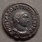 Photo numismatique  Monnaies Empire Romain CONSTANTIN II, CONSTANTINUS II, CONSTANTINO II Follis ou Nummus CONSTANTINI II, CONSTANTINUS II, follis ou nummus Alexandrie en 321-324, IOVI CONSERVATORI, 19 mm, 3,47 grms, RIC.31 TTB à SUPERBE R3!