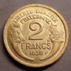 Photo numismatique  Monnaies Monnaies Françaises Troisième République 2 Francs 2 Francs Morlon 1939, Gad.535 Presque SUPERBE