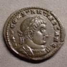 Photo numismatique  Monnaies Empire Romain CONSTANTIN I, CONSTANTINUS I, CONSTANTINO Follis ou Nummus CONSTANTIN Ier, CONSTANTINUS I, follis ou nummus Trèves en 315-316, SOLI INVICTO COMITI PTR / BS, 20-21 mm, 4,01 grms, RIC.74 SUPERBE à FDC