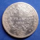 Photo numismatique  Monnaies Monnaies Françaises Troisième République 5 Francs 5 Francs Hercule 1873 K Bordeaux, Gad.745a Lustrée, TB+