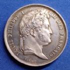 Photo numismatique  Monnaies Jetons Jeton de présence Jeton en argent LOUIS PHILIPPE, jeton de présence en argent, société d'Agriculture, des arts des Landes, par Petit F., 27 mm, 9,87 grms, corrosion au Rv sinon SUP+