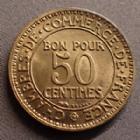 Photo numismatique  Monnaies Monnaies Françaises Troisième République 50 centimes Domard 50 centimes Domard 1922, chambre de commerce, Gd.421 SUPERBE