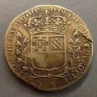 Photo numismatique  Monnaies Jetons Dijon Jeton rond DIJON, Hugues de la Croix conseiller du Roi, Trésorier payeur, jeton rond de 28 mm 1660, TB à TTB