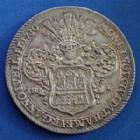 Photo numismatique  Monnaies Allemagne avant 1871 Allemagne, deutschland, Hamburg, Hambourg Reichstaler Hamburg, Hambourg, Reichstaler (speciestaler) 1730 IHL, Karl VI, un cœur (herz) a été gravé au revers, 29,10 grms, Dav.2282 SUP/TTB à SUP