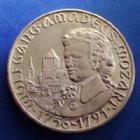 Photo numismatique  Monnaies Monnaies/medailles d'Alsace Strasbourg Médaille Alsace, Elsass Strasbourg, Strassburg, UNA médaille en argent, bicentenaire de la mort de Mozard, 3e concours d'exposition numismatique, 28,81 g, 42 mm SUPERBE