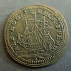 Photo numismatique  Monnaies Jetons Jeton de Nuremberg, Nurnberg Albert Hoger Louis XV, jeton de Nuremberg, Nurberg, Albrecht Hoger, Voilier, shiff, 19 mm P.SUPERBE
