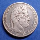 Photo numismatique  Monnaies Monnaies Françaises Louis Philippe 5 Francs Louis Philippe, 5 francs 1848 A, gad.678a rayures sinon TB