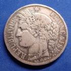 Photo numismatique  Monnaies Monnaies Françaises Défense nationale 5 Francs 5 Francs Cérès 1870 A, Paris, Gad.743 TB à TTB