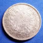 Photo numismatique  Monnaies Monnaies Françaises Troisième République 5 Francs 5 Francs Hercule 1873 A, Paris, Gad.745a traces de virolle sur le listel sinon TTB à SUP