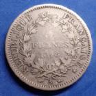 Photo numismatique  Monnaies Monnaies Françaises Deuxième République 5 Francs 5 Francs Cérès 1848 A, Paris, Gad.683 TB