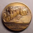 Photo numismatique  Monnaies Médailles Monaco médailles Médaille Monaco, médaille par Pierre Turin, sous Louis II, MCMXLIII 1943, poiàon corne FFR, 68 mm, 159,46 grms  Q.FDC