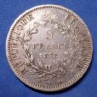 Photo numismatique  Monnaies Monnaies Françaises Troisième République 5 Francs 5 Francs Hercule 1875 K Bordeaux, Gad.745a TB à TTB