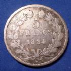 Photo numismatique  Monnaies Monnaies Françaises Louis Philippe 5 Francs LOUIS PHILIPPE, 5 Francs 1834 W Lille, Gad.678 Beau