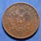 Photo numismatique  Monnaies Monnaies étrangères Argentine, Agentina 2 centavos Argentine, Argentina, 2 centavos, dos centavos 1885, KM.33 petit coup sur trance sinon TTB+