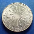 Photo numismatique  Monnaies Monnaies étrangères Allemagne BDR, Deutschland BDR, Germay BDR 10 Mark Olympiade  10 Mark 1972 G, XX Olympiade Munich 1972, argent 625°/°° 15,50 grms, J.401b SUPERBE+