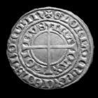 Photo numismatique  Monnaies Monnaies/medailles d'Alsace Strasbourg Gros au Lis STRASBOURG, STRASSBURG, gros au lis, 15e siècle, 3,40 grms, EL.384 SUPERBE