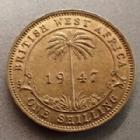 Photo numismatique  Monnaies Monnaies étrangères Afrique de l'ouest Anglaise, British west Africa 1 Shilling, one shilling Afrique de l'ouest Anglaise, British west Africa, Georg VI, One shilling 1947, TTB+/TTB à SUPERBE