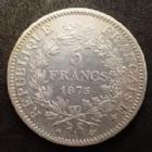Photo numismatique  Monnaies Monnaies Françaises Troisième République 5 Francs 5 Francs Hercule 1875 A, Paris, Gad.745a Bon TTB