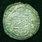 Photo numismatique  Monnaies Monnaies Féodales Franche comté Dole 1/16ème de patagon DÔLE, Franche Comté, 1/16e de patagon 1624, 2,38 grms, R.34 TTB