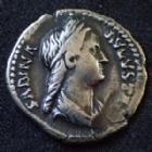 Photo numismatique  Monnaies Empire Romain SABINE, SABINA Denier, denar, denario, denarius SABINA, SABINE, Femme d'hadrien, denier Rome en 129, CONCORDIA AUG, 18 mm, 2,34 grms, RIC.391  TTB