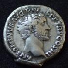 Photo numismatique  Monnaies Empire Romain ANTONIN LE PIEUX, ANTONINUS PIUS, ANTONINO PIO Denier, denar, denario, denarius ANTONINUS Pius, ANTONIN le Pieux, denier Rome en 141-143, AEQUITAS AUG, 17 mm, 2,54 grms, RIC.61 TTB/TTB+