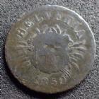 Photo numismatique  Monnaies Monnaies étrangères SUISSE, SCHWEIZ, SWITZERLAND 5 Rappen Suisse, Switzerland, Schweiz, 5 rappen 1850 BB, HMZ.1232 Beau