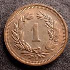 Photo numismatique  Monnaies Monnaies étrangères SUISSE, SCHWEIZ, SWITZERLAND Rappen Suisse, Switzerland, Schweiz, 1 rappen 1936 B, D/T.326 SUPERBE