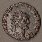 Photo numismatique  Monnaies Empire Romain CLAUDE II LE GOTHIQUE, CLAUDIUS GOTHICUS, CLAUDIO GOTHICO Antoninien, antoninianus, antoniniane CLAUDIUS II Gothicus, CLAUDE II le Gothique, antoninien Rome en 269, PM TR P II COS PP, 18 mm, 2,88 grms, RIC.10 Flan court sinon SUPERBE