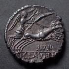 Photo numismatique  Monnaies République Romaine Claudia 79 avant Jc Denier, denar, denario, denarius TI.CLAUDIUS, denier Rome en 79 avant JC, Tête de Diane, Bige à droite, 3,38 grms, RSC.Claudia 5.6 SUPERBE