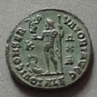 Photo numismatique  Monnaies Empire Romain CONSTANTIN I, CONSTANTINUS I, CONSTANTINO Follis, folles,  CONSTANTINUS I, CONSTANTIN I, follis Alexandrie en 315-317, IOVI CONSERVATORI AUGG, 20 mm, 3,78 grms, RIC.17 presque SUPERBE