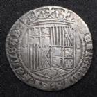 Photo numismatique  Monnaies Monnaies étrangères Espagne, Spain Réal, 1 Real Ferdinand et Isabelle, Ferdinandus, Isabella, 1476-1516, Réal Séville, 3,06 grms, presque TTB/TTB+