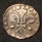 Photo numismatique  Monnaies Monnaies/medailles d'Alsace Strasbourg Pfennig au Lis et à l'Ecu STRASBOURG, STRASSBURG, 17e siècle, pfennig au Lis et à l'Ecu, 0,22 grm, EL.332 petite pliure sinon TTB