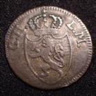 Photo numismatique  Monnaies Allemagne avant 1871 Allemagne, Deutschland, Hesse Darmstadt 1 Kreuzer Hesse Darmstadt, Allemagne, Deutschland, Ludwig I, 1 kreuzer 1809, 0,57 grm, AKS.90 TB à TTB