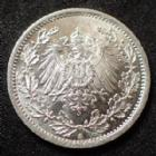Photo numismatique  Monnaies Allemagne après 1871 Allemagne, Deutschland, Kaiserreich, Empire 1/2 Mark Kaiserreich, 1/2 Mark 1914 A, Jaeg.16 SUPERBE à FDC