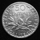 Photo numismatique  Monnaies Monnaies Françaises Troisième République 50 centimes Semeuse de Roty 50 centimes semeuse de Roty 1909, Gad.42 TB/TTB