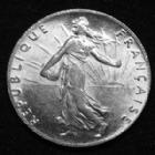 Photo numismatique  Monnaies Monnaies Françaises Troisième République 50 centimes Semeuse de Roty 50 centimes semeuse de Roty 1920, Gad.420 SUP/SPL