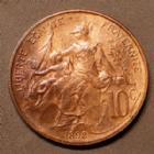 Photo numismatique  Monnaies Monnaies Françaises Troisième République 10 centimes Dupuis 10 centimes Daniel Dupuis 1898, Gad.277 SPL