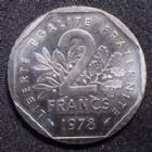 Photo numismatique  Monnaies Monnaies Françaises Cinquième république 2 Francs essai 2 francs Semeuse 1978